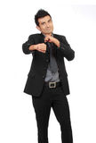Portrait of a young successful happy business man Royalty Free Stock Images
