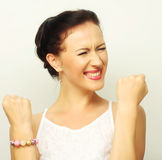 Portrait young successful happy woman Royalty Free Stock Photos