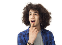 Portrait of young surprised man Royalty Free Stock Photo