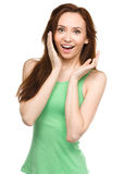 Portrait of a young surprised woman Royalty Free Stock Images