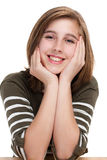 Portrait of young teen girl stock image