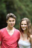 Portrait of a young teenage couple Royalty Free Stock Photography