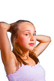 Portrait of   young teenage girl Stock Images
