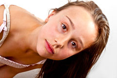 Portrait of young teenage girl Royalty Free Stock Image