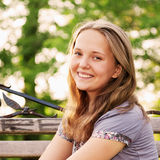 Portrait young teenager girl Stock Photo