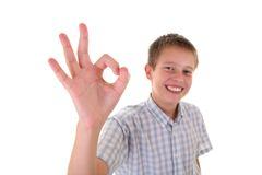 Portrait of young teenager laughing Royalty Free Stock Images