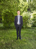 Portrait of young teenager in suit Stock Image