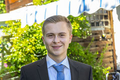 Portrait of young teenager in suit Stock Photos
