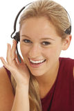 Portrait of young telemarketer Stock Photos