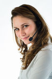 Portrait of a young telephone operator Stock Image