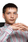 Portrait of a young thinking businessman Royalty Free Stock Photography