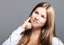 Portrait of a young thinking girl Royalty Free Stock Image