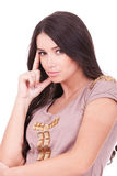 Portrait of an young thinking woman Royalty Free Stock Image