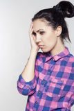 Portrait of young thougntful woman Royalty Free Stock Image