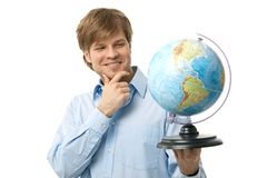 Portrait of young traveler Royalty Free Stock Photo