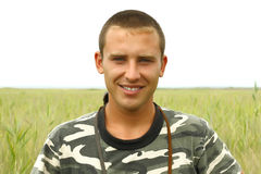 Portrait of a young Ukrainian military Stock Image