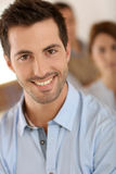 Portrait of young unshaven man at home Royalty Free Stock Photo