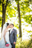 Portrait of a young wedding couple Royalty Free Stock Photos