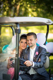 Portrait of a young wedding couple Royalty Free Stock Image