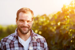 Portrait of a young winemaker Royalty Free Stock Image
