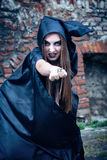 Portrait of a young witch. Stock Images