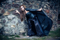 Portrait of a young witch. Royalty Free Stock Photography