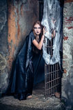 Portrait of a young witch. Royalty Free Stock Photos