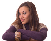 Portrait of a young woman. Royalty Free Stock Images