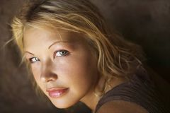 Portrait of young woman. Royalty Free Stock Images