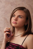 Portrait of young woman royalty free stock photo