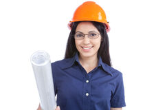 Portrait of Young Woman Architect Royalty Free Stock Photo