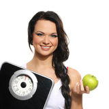 Portrait of young woman as dieting concept Royalty Free Stock Photography