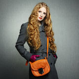 Portrait of young woman in autumn coat Royalty Free Stock Photo
