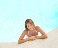 Portrait of a young woman in a bathing suit Royalty Free Stock Photo