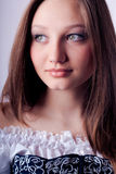 Portrait of Young woman with Beautiful eyes Stock Photos