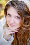 Portrait of a young woman with beautiful hair. And make up Royalty Free Stock Images