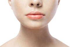 Portrait of young woman with beautiful lips Stock Photo