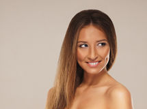 Portrait of a young woman in a beautiful makeup Royalty Free Stock Photo