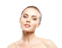 Portrait of a young woman in beautiful makeup Royalty Free Stock Images