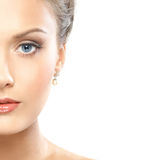 Portrait of a young woman in a beautiful makeup Stock Image
