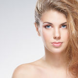 Portrait of a young woman in a beautiful makeup Royalty Free Stock Images