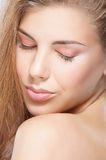 Portrait of a young woman in a beautiful makeup Royalty Free Stock Image