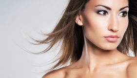 Portrait of a young woman in beautiful makeup Royalty Free Stock Image