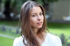 Portrait of young woman Stock Photo