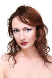 Portrait of the young woman with beauty face Royalty Free Stock Photos