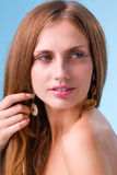Portrait of the young woman with beauty face Stock Photo