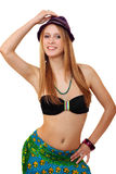 Portrait of a young woman with a bikini royalty free stock image