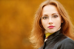 Portrait of young woman in black Royalty Free Stock Photo
