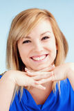 Portrait of Young Woman with Blond Hair Smiling Royalty Free Stock Photography
