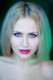 Portrait of young woman. Portrait of young blonde woman royalty free stock images